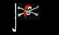 Bandiera per auto Pirata con bandana - 30 x 40 cm