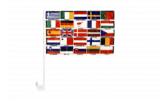 Bandiera per auto tutti i paesi d'Europa - 30 x 40 cm