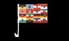 Bandiera per auto Germania 16 regioni federali - 30 x 40 cm