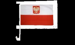 Bandiera per auto Polonia con aquila - 30 x 40 cm