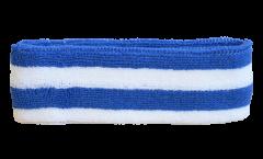Fascia antisudore Banda azzura bianca - 6 x 21 cm