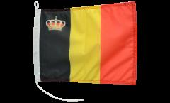 Bandiera da barca Belgio con corona - 30 x 40 cm