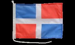 Bandiera da barca Repubblica Domenicana senza stemmi - 30 x 40 cm