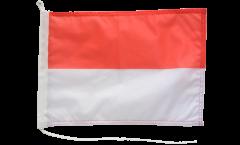 Bandiera da barca Principato di Monaco - 30 x 40 cm