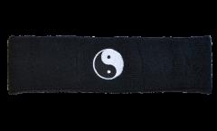 Fascia antisudore Ying Yang neri - 6 x 21 cm