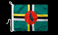 Bandiera da barca Dominica - 30 x 40 cm