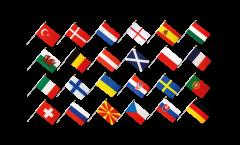 Calcio 2021 set di bandiere da asta - 30 x 45 cm