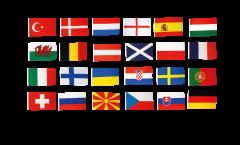 Calcio 2021 set di bandiere - 90 x 150 cm