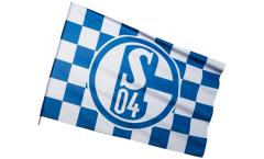 Bandiera da asta FC Schalke 04 Karo - 60 x 90 cm