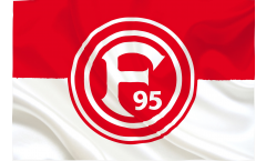 Bandiera Fortuna Düsseldorf Basic - 100 x 150 cm