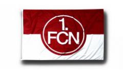 Bandiera 1. FC Nürnberg Logo rosso-bianco - 100 x 150 cm