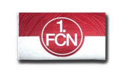 Bandiera 1. FC Nürnberg Logo rosso-bianco - 150 x 250 cm