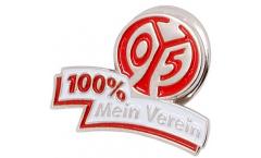 Spilla 1. FSV Mainz 05 100 % Mein Verein - 1.5 x 2.5 cm
