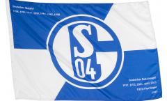 Bandiera da asta FC Schalke 04 Erfolge - 60 x 90 cm