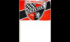 Bandiera da asta FC Ingolstadt 04 Logo - 30 x 45 cm