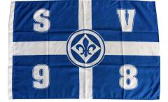 Bandiera SV Darmstadt 98 Croce - 60 x 90 cm