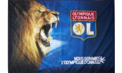 Bandiera Olympique Lyon Leone - 100 x 140 cm
