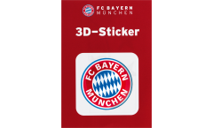 Adesivo FC Bayern München Logo - 6 x 6 cm