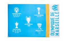 Bandiera Olympique Marseille Palmarès - 90 x 150 cm