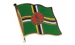 Spilla Bandiera Dominica - 2 x 2 cm