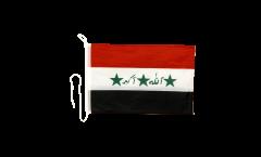 Bandiera da barca Iraq vecchia 1991-2004 - 30 x 40 cm