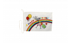 Bandiera da barca Happy Birthday - 30 x 40 cm