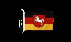 Bandiera da barca Germania Bassa Sassonia - 30 x 40 cm