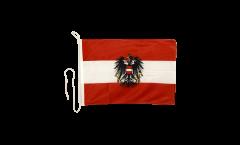 Bandiera da barca Austria con aquila - 30 x 40 cm