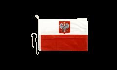 Bandiera da barca Polonia con aquila - 30 x 40 cm