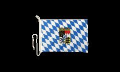 Bandiera da barca Germania Baviera con stemma - 30 x 40 cm
