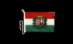 Bandiera da barca Ungheria con stemma - 30 x 40 cm