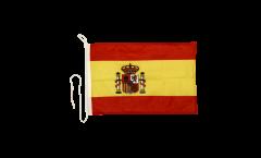 Bandiera da barca Spagna con stemma - 30 x 40 cm