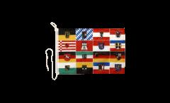 Bandiera da barca Germania 16 regioni federali - 30 x 40 cm
