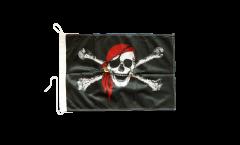 Bandiera da barca Pirata con bandana - 30 x 40 cm
