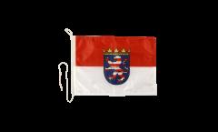 Bandiera da barca Germania Assia - 30 x 40 cm