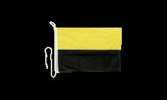 Bandiera da barca gialla-nera - 30 x 40 cm