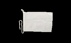 Bandiera da barca bianca - 30 x 40 cm