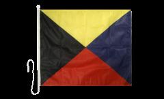 Bandiera segnaletica Zulu (Z) - 75 x 90 cm