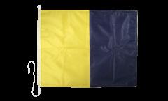 Bandiera segnaletica Kilo (K) - 75 x 90 cm
