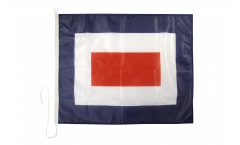 Bandiera segnaletica Whiskey (W) - 75 x 90 cm