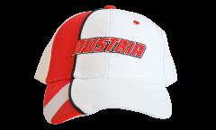 Cappellino / Berretto Austria, bianco-rosso, flag