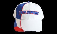 Cappellino / Berretto Repubblica Ceca, bianco-rosso, flag