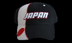 Cappellino / Berretto Giappone, nero-bianco, flag