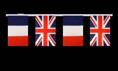 Cordata dell'amicizia Francia - Regno Unito - 15 x 22 cm