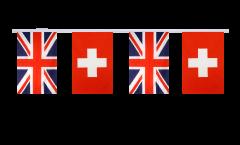 Cordata dell'amicizia Regno Unito - Svizzera - 15 x 22 cm