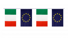 Cordata dell'amicizia Italia - Unione Europea EU - 15 x 22 cm