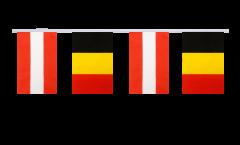 Cordata dell'amicizia Austria - Belgio - 15 x 22 cm