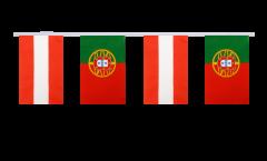 Cordata dell'amicizia Austria - Portogallo - 15 x 22 cm