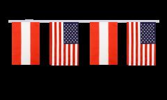Cordata dell'amicizia Austria - USA - 15 x 22 cm