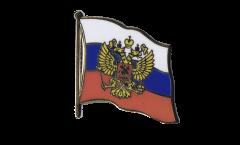 Spilla Bandiera Russia con stemma - 2 x 2 cm